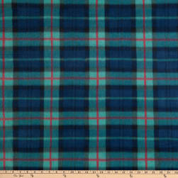 Polar Fleece Tra Plaid Blk Watch Red Fabric
