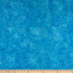 Island Batik Fortune Teller Paisley Outlining Medium Lagoon