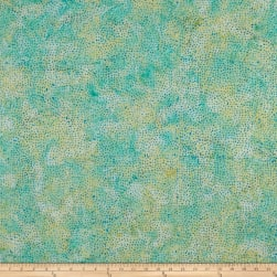 Island Batik Soul Song Speckle Parakeet Fabric