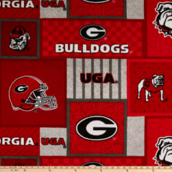 NCAA-Georgia 1177 Patch Fleece