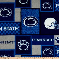NCAA Penn State Nittany Lions Patch Fleece Fabric