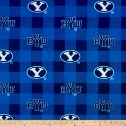 NCAA Brigham Young Cougars Buffalo Plaid Fleece