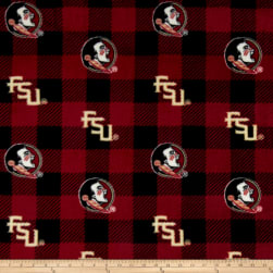 NCAA Florida State Seminoles Buffalo Plaid Fleece