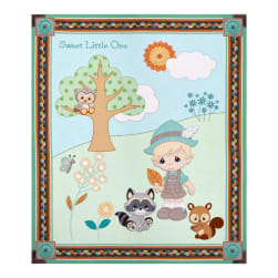 Precious Moments Woodland Baby Boy Digital Print Blue 36'' Panel Fabric