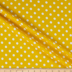 Liverpool Double Knit Polka Dot Yellow/Ivory Fabric