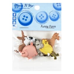 Funny Farm 6ct Button Pack