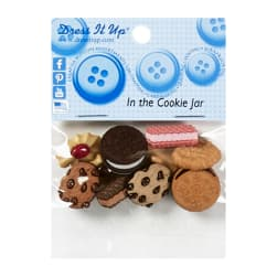 Sew Cute In the Cookie Jar 6ct Button