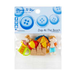 Dress it Up Embellishment Buttons 5pc -Day At