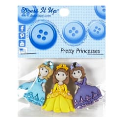 Pretty Princess 3ct Button Pack