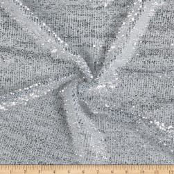 Pleated Glitz Sequin Mesh Silver