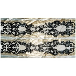 Damask Gatsby Sequins Silver/Gold