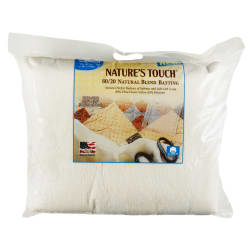 Pellon Nature's Touch 80/20 Cotton/Polyester with Scrim Batting 120'' x 120'' King Size Package
