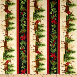 Wilmington Festive Forest Repeating Stripe Multi