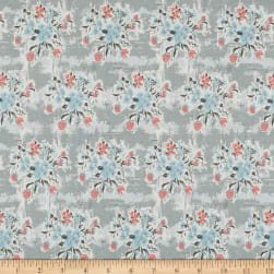 Abbie Floral Gray Fabric