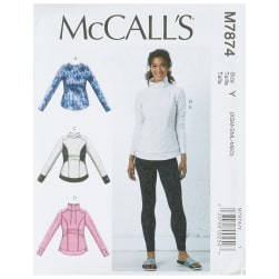 McCall's M7874 Misses' Tops and Leggings Y (Sizes