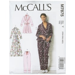 McCall's M7875 Misses' Jacket, Robe, Pants and Belt