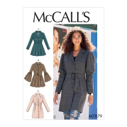 McCall's M7879 Misses' Coats E5 (Sizes 14-22)
