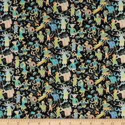 Liberty Fabrics Tana Lawn Dapper Dogs Black