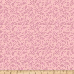 Riley Blake Blooms And Bobbins Leaves Pink Fabric