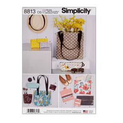 Simplicity 8813 Bags & Small Accessories OS (One