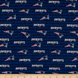 NFL Cotton Broadcloth New England Patriots Mini Navy Fabric