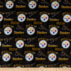 NFL Cotton Broadcloth Pittsburgh Steelers Retro Multi