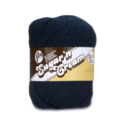 Lily Sugar'n Cream Super Size Yarn Bright Navy