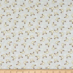 Benartex White Woodland Snow Fun Light Stone Fabric