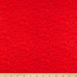 A Quilter's Christmas Swirls Scarlet