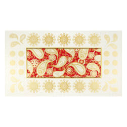 Benartex Jubilee Holiday Embroidery 24'' Panel Red Fabric