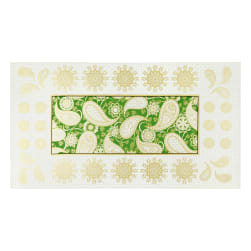 Benartex Jubilee Holiday Embroidery 24'' Panel Green Fabric