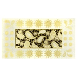Benartex Jubilee Embroidery 24'' Panel Black Fabric