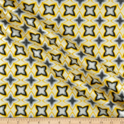 Kanvas Limoncello Pearl Flower Ikat Yellow Fabric