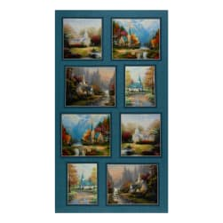 Benartex Inspirations for Living Hometown Chapel Panel Blue/Multi