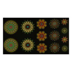 Benartex More is More Medallions 24'' Panel Green/Multi Fabric