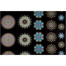 Benartex More is More Medallions 24'' Panel Blue/Multi Fabric