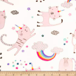 Shannon Studio Minky Cuddle Caticorns Blush