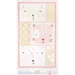 Contempo Little Friends 24'' Panel Pink Fabric