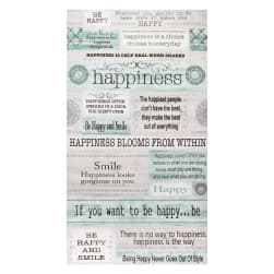 Contempo Words to Live By Happiness 24'' Panel Grey/Multi