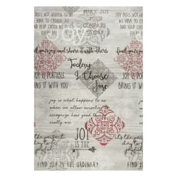 Contempo Words to Live By Joy 24'' Panel Grey/Multi