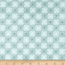 Contempo Words to Live By Trellis Turquoise Fabric