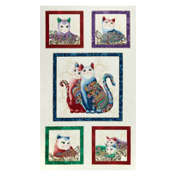 Cat-I-tude 2 PurrFect Together 24'' Panel White Multi