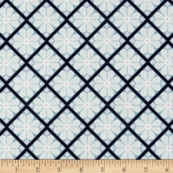 In The Meadow Lattice Blue Fabric
