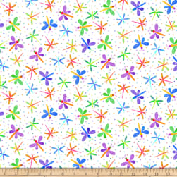 Blank Quilting Bugs Galore! Dragonflies White Fabric