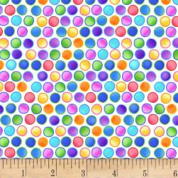 Blank Quilting Bugs Galore! Dots White Fabric