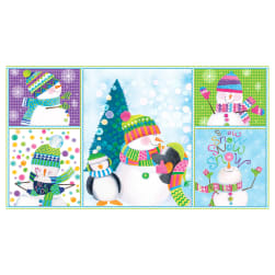 """By Golly Get Jolly! Panel 24"""" Light Blue"""