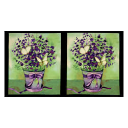 Clothworks Sweet Lavender 22'' Panel Multi Color Fabric