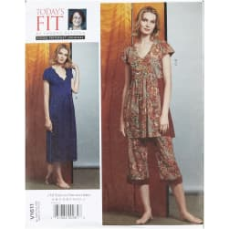 Vogue V1611 Fit by Sandra Betzina Misses' Nightgown/Pants