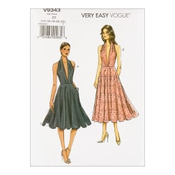 Vogue V9343 Very Easy Misses' Dress E5 (Sizes