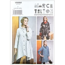 Vogue V9352 Marcy Tilton Misses' Coat Y (Sizes XSM-SML-MED)